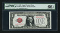 Small Size:Legal Tender Notes, Fr. 1500 $1 1928 Legal Tender Note. PMG Gem Uncirculated 66 EPQ.. ...