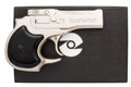 Handguns:Derringer, Palm, Boxed High Standard Model D-101 Over and Under Derringer....