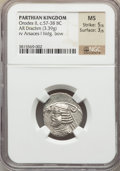 Ancients:Oriental, Ancients: Orodes II (57-38 BC). AR drachm (3.39 gm)....