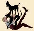 Animation Art:Production Cel, 101 Dalmatians Roger, Pongo, and Perdita Production Cel (Walt Disney, 1961)....