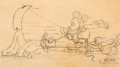 Animation Art:Production Drawing, Donald Duck, Mickey Mouse, and Pluto On Ice PublicityDrawing Group of 2 (Walt Disney, 1935).... (Total: 2 Original Art)