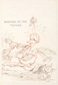Animation Art:Concept Art, Donald Duck Master of the 'Ounds/The Fox Hunt One SheetConcept Art (Walt Disney, 1938)....