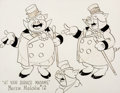 animation art:Model Sheet, At Your Service, Madame W. C. Squeals Model Sheet (WarnerBrothers, 1936)....