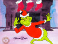 Animation Art:Production Cel, Doctor Seuss's How the Grinch Stole Christmas GrinchProduction Cel Setup (Chuck Jones, 1966)....