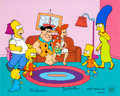 """Animation Art:Limited Edition Cel, The Simpsons """"The Simpstones"""" Limited Edition Cel #260/350(Fox, 1999)...."""