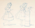 Animation Art:Production Drawing, Alice in Wonderland Concept Sketch Group of 2 (Walt Disney,1951)....