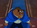 Animation Art:Production Cel, Beauty and the Beast Master Production Background and Presentation Cel Setup (Walt Disney, 1991)....