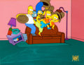 Animation Art:Production Cel, The Simpsons Couch Gag Production Cel (Fox, 1999)....