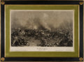 Military & Patriotic:Civil War, Impressive Battle of Gettysburg Engraver's Proof....