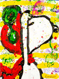 Animation Art:Production Drawing, Tom Everhart 76 Dog Salute Snoopy as WWI Flying Ace Painting(c. 1998)....