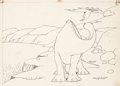 Animation Art:Production Drawing, Winsor McCay Gertie the Dinosaur Animation Drawing (WinsorMcCay, 1914)....
