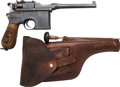 Handguns:Semiautomatic Pistol, Mauser Model 1896 Broomhandle Semi-Automatic Pistol with Leather Holster....