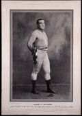 Boxing Cards:General, Early 1910 James Jeffries Police Gazette Premium. ...