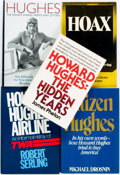 Books:Biography & Memoir, [Aviation]. [Howard Hughes, subject]. Group of Five Books. Variouspublishers and dates.... (Total: 5 Items)