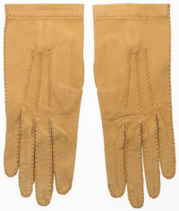 Hermes Sable Agneau Leather Gloves Good Condition Size 6.5