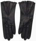 Luxury Accessories:Accessories, Hermes Black Agneau Leather Gloves. Very Good Condition.Size 8. ...