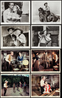 Tribute to a Bad Man & Others Lot (MGM, 1956). British Front of House Color Photos (4) & Photos (18) (ap...