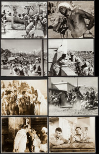 "Gunga Din (RKO, 1939). Photo (7.75"" X 10""), Trimmed Restrike Photos (3) (7.25"" X 9.5""), and Trimmed..."