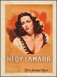 "Hedy Lamarr (MGM, 1945). Italian Personality Poster (19.75"" X 27""). Miscellaneous"