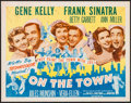 """Movie Posters:Musical, On the Town (MGM, R-1962). Half Sheet (22"""" X 28""""). Musical.. ..."""