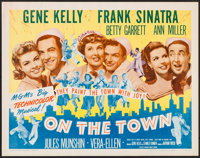 "On the Town (MGM, R-1962). Half Sheet (22"" X 28""). Musical"