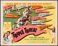 "Triple Threat (Columbia, 1948). Half Sheet (22"" X 28"") Style A. Sports"