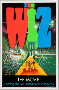 "The Wiz (Universal, 1978). One Sheet (27"" X 41"") Advance & Lobby Cards (2) (11"" X 14""). Musi..."