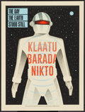 "Movie Posters:Science Fiction, The Day the Earth Stood Still by Methane Studios (Mondo, 2015).Limited Numbered Edition Screen Print (18"" X 24""). Science F..."