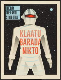 "The Day the Earth Stood Still by Methane Studios (Mondo, 2015). Limited Numbered Edition Screen Print (18"" X 24&quo..."