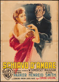 "Movie Posters:Drama, Of Human Bondage (Warner Brothers, 1949). Italian 2 - Foglio(39.25"" X 55""). Drama.. ..."