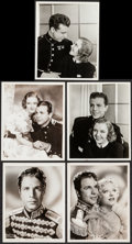 """Movie Posters:Romance, Hearts Divided & Other Lot (Warner Brothers, 1936). Photos (9)(8"""" X 10""""). Romance.. ... (Total: 9 Items)"""