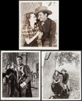 """Movie Posters:Western, Dodge City & Other Lot (Warner Brothers, 1939). Photos (3) (8""""X 10""""). Western.. ... (Total: 3 Items)"""