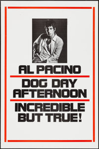 "Dog Day Afternoon (Warner Brothers, 1975). One Sheet (27"" X 41"") Advance. Action"