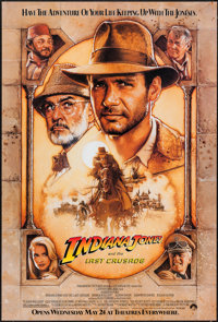 "Indiana Jones and the Last Crusade (Paramount, 1989). One Sheet (27"" X 40"") Advance. Action"