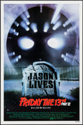 "Movie Posters:Horror, Friday the 13th Part VI: Jason Lives & Other Lot (Paramount, 1986). One Sheets (2) (27"" X 41""). Horror.. ... (Total: 2 Items)"