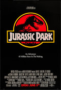 "Movie Posters:Science Fiction, Jurassic Park (Universal, 1993). One Sheet (26.75"" X 39.7.5"") SSAdvance. Science Fiction.. ..."