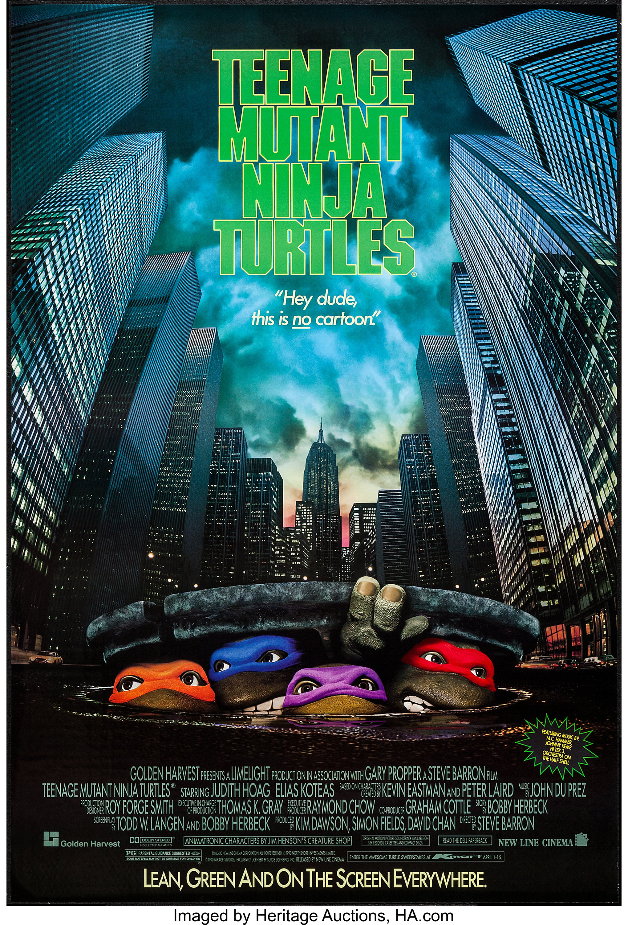 Teenage Mutant Ninja Turtles (New Line, 1990)  One Sheet (27