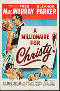 """Movie Posters:Comedy, A Millionaire for Christy (20th Century Fox, 1951). One Sheet (27""""X 41""""). Comedy.. ..."""