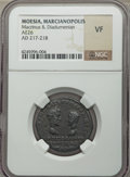 Ancients:Roman Provincial , Ancients: MOESIA. Marcianopolis. Macrinus & Diadumenian (AD217-218). AE 26 mm (no wt. given)....