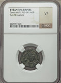 Ancients:Byzantine, Ancients: Constans II (AD 641-668). AE half-follis (no wt.given)....