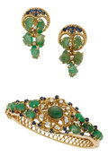 Estate Jewelry:Coin Jewelry and Suites, Emerald, Sapphire, Diamond, Gold Jewelry Suite. ...