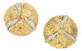 Estate Jewelry:Earrings, Diamond, Gold Earrings, Boris. ...