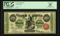 Large Size:Legal Tender Notes, Fr. 126a $20 1863 Legal Tender PCGS Apparent Very Fine 30.. ...