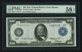 Fr. 1044 $50 1914 Federal Reserve Note PMG Choice About Uncirculated 58 EPQ