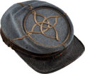 Military & Patriotic:Civil War, Regulation Civil War Louisiana Confederate Lieutenant's Kepi. ...