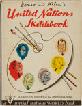 Books:Art & Architecture, [Political Cartoons]. Derso and Kelen. United Nations Sketchbook: A Cartoon History of the United Nations...