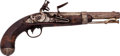 Handguns:Muzzle loading, U.S. Martial Marked Flintlock Pistol....