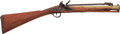 Long Guns:Muzzle loading, Twigg London Brass Barrel Flintlock Blunderbuss With Spring Mounted Bayonet....