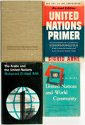 Books:World History, [United Nations]. Group of Four Books. Various publishers, 1948 - 1964.. ... (Total: 4 Items)