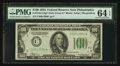 Small Size:Federal Reserve Notes, Fr. 2152-C* $100 1934 Federal Reserve Note. PMG Choice Uncirculated 64 EPQ.. ...